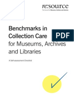 Benchmarks in Collections Care