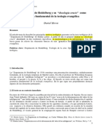 """La Disputación de Heidelberg y su """"theologia crucis"""" como gramática fundamental de la teología evangélica"""