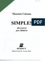 COLONNA Maurizio - Simples_dieci Pezzi Per Chitarra (Ed Berben) (Guitar)
