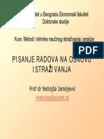 Metodi i Tehnike Naucnog Istrazivanja Pisanje Izvestaja Janicijevic