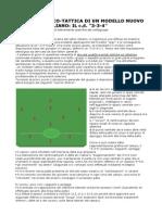 OTTIMO!!!!Analisi Tecnico-Tattica Di Un Modello Nuovo Nel Calcio Italiano Il 3-3-4....