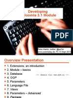 Programming a Joomla 3.1 Module - Joomladay Germany 2013