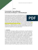 LIDO art. juventude e a(s) política(s) Desinstitucionalização e individualização