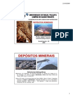 AULA 1 - DEPÓSITOS MINERAIS - INTRODUÇÃO