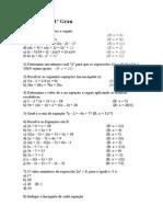 Equações do 1º Grau e 2° Grau-2