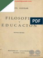 FILOSOFIA Y EDUCACION - SEGUNDA EDICION - MANUEL RIQUELME - PORTALGUARANI