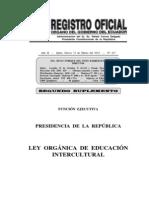 Ecuador Ley Organica Educacion Intercultural