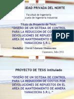 Proyecto de Tesis - David Mamani
