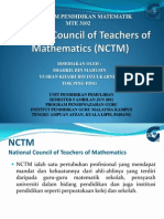 National Council of Teachers of Mathematic (NCTM