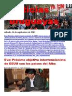 Noticias Uruguayas sábado 14 de setiembre del 2013
