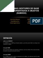 Los Sistemas Gestores de Base de Datos Orientados (1)