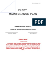 Fleet Maintenance Plan Example 2-11