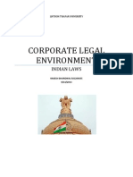 Corporate Legal Environment Project, Rakesh Bhardwaj 501204035,1mb1