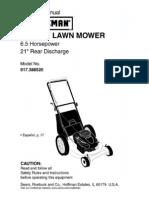 Craftsman Mower 917.388520 - L0309180