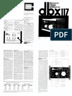 Dbx 117 Cut Sheet