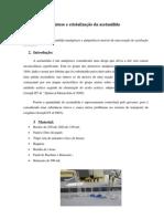 Síntese e cristalização da acetanilida (relatório)