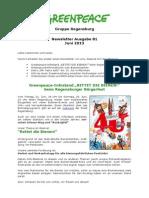 Newsletter 81 Greenpeace Regensburg Juni 2013