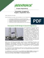 Newsletter 82 Greenpeace Regensburg August 2013