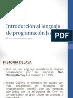 Introducción al lenguaje de programación Java