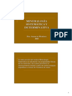 Proyecciones Mineralogia Sistematica y Determinativa