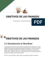 Objetivos de Las Finanzas