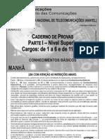Anatel Base Cargos de 1 a 6 e de 11 a 15