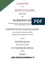 Fondation de la  RÉGENCE D'ALGER_Tome1-1837