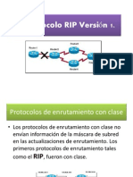 III. Protocolo RIP Versión 1