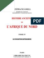 HISTOIRE ANCIENNE de l'AFRIQUE DU NORD-par Stéphne Gsell-Tome 4