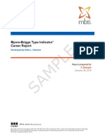 Mbti Step i Career Report Sb