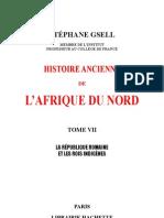 HISTOIRE ANCIENNE de l'AFRIQUE DU NORD-par Stéphane Gsell-Tome 7