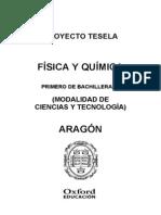 Programacion Tesela Fisica y Quimica 1 BACH Aragon