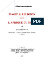 Magie & Religion Dans l'Afrique Du Nord -1909