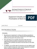 Equipment Criticality