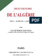 Moeurs Et Coutumes d'Algerie-1853