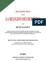 Recherches Sur La Religion Des Berberes -1910