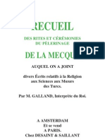 Recueils de Rites et ceremonies de pelerinages à La Mecque-par A Galland-1754