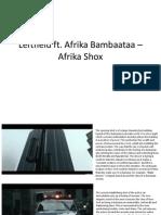 Leftfield ft. Afrika Bambaataa - Afrika Shox (Analysis) revised