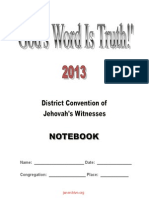 2013 Dc Gods Word is Truth Notebook