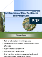 Copy of Construction of Clear Sentences and Paragraphs Chp 3(Writing Skills)