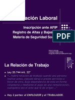 Clase I - La Relación Laboral