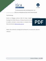 Educacion y Nuevas Tecnologias de La Informacion y Comunicacion