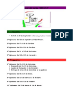 planificación quincenal del curso 2014
