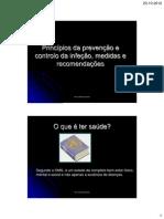 Prevenção e controlo da infeção e conceitos associaos aos tipos de infeção
