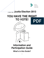 Nova Scotia Elections Guide 2013
