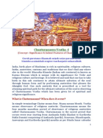 CHAATURMAASYA VRATHA (Concept-Significance & Austerities)