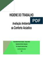 10 HT II Avaliação de Conforto Acústico e roteiro