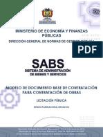 Modelo de DBC Para Obras