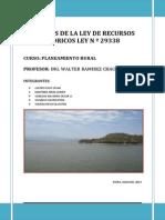 Analisis de La Ley de Recursos Hidricos