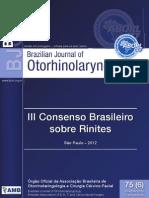 III Consenso Brasileiro Sobre Rinites - 2012